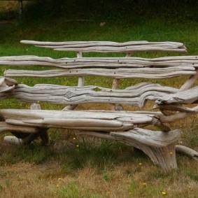 современная садовая скамья декор идеи