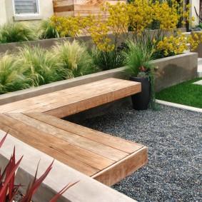современная садовая скамья идеи декор