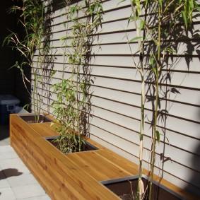 современная садовая скамья идеи декора