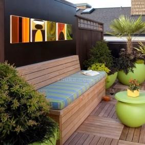 современная садовая скамья фото оформление