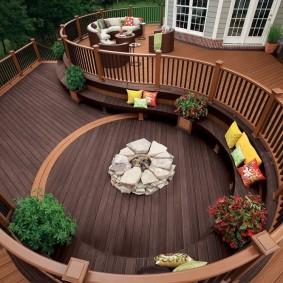 современная садовая скамья фото оформления