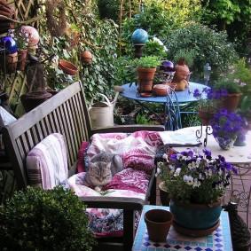 современная садовая скамья оформление идеи