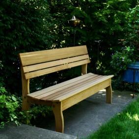 современная садовая скамья дизайн