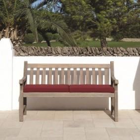 современная садовая скамья фото дизайна