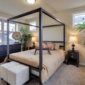 современная спальня фото декор