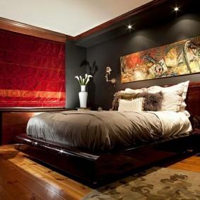 современная спальня виды декора