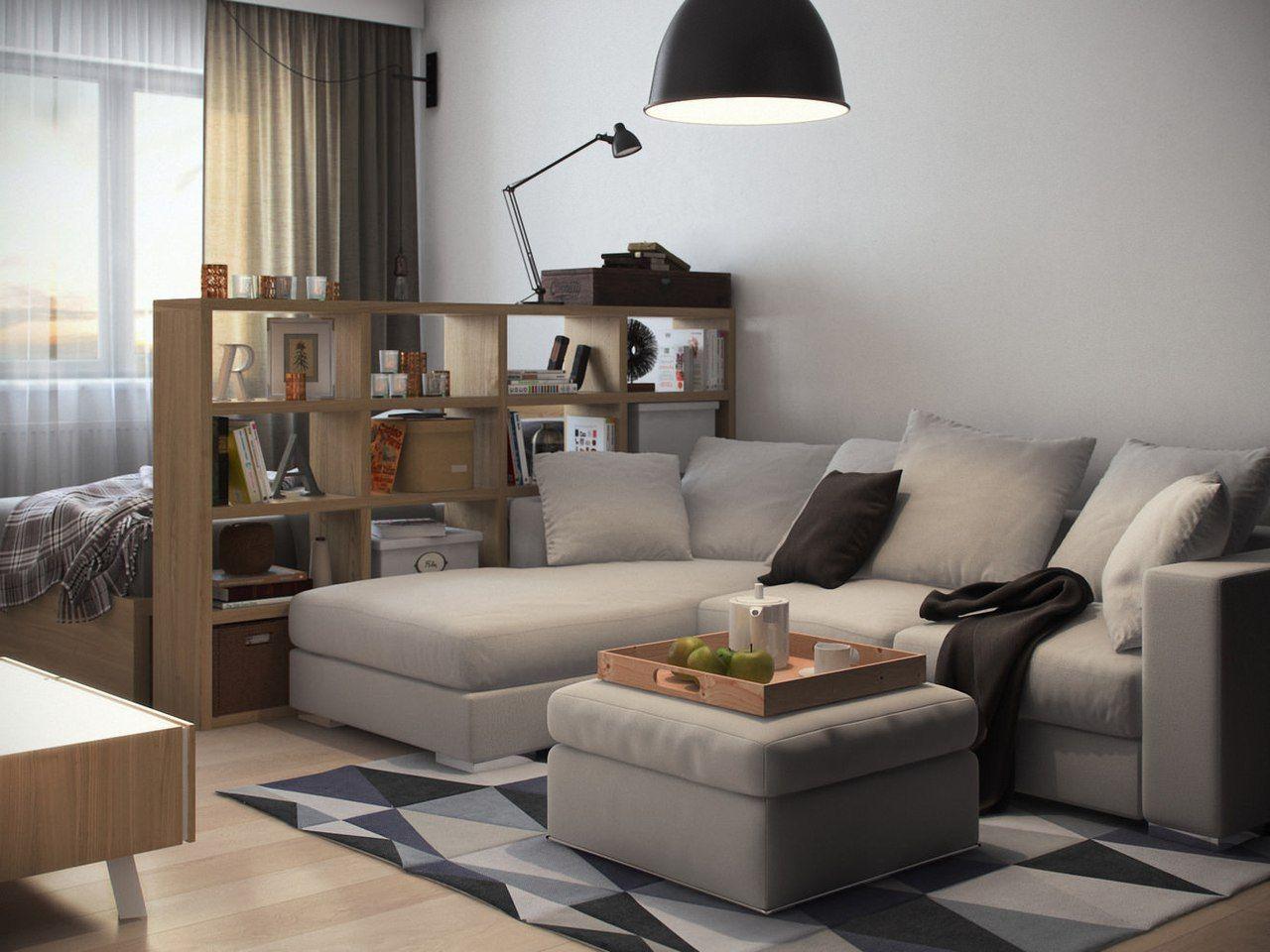 спальня гостиная 16 кв м дизайн