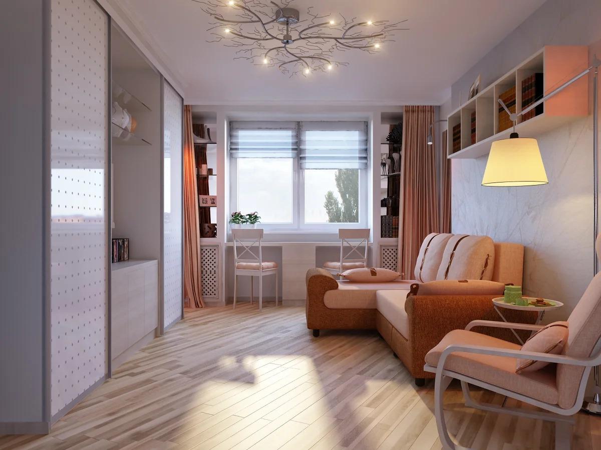 спальня гостиная 16 кв м идеи
