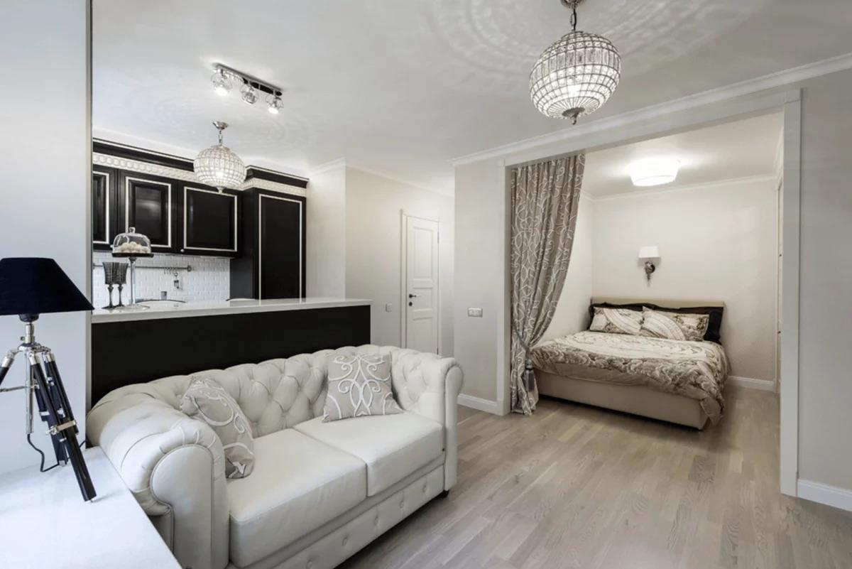 спальня гостиная 16 кв м студия