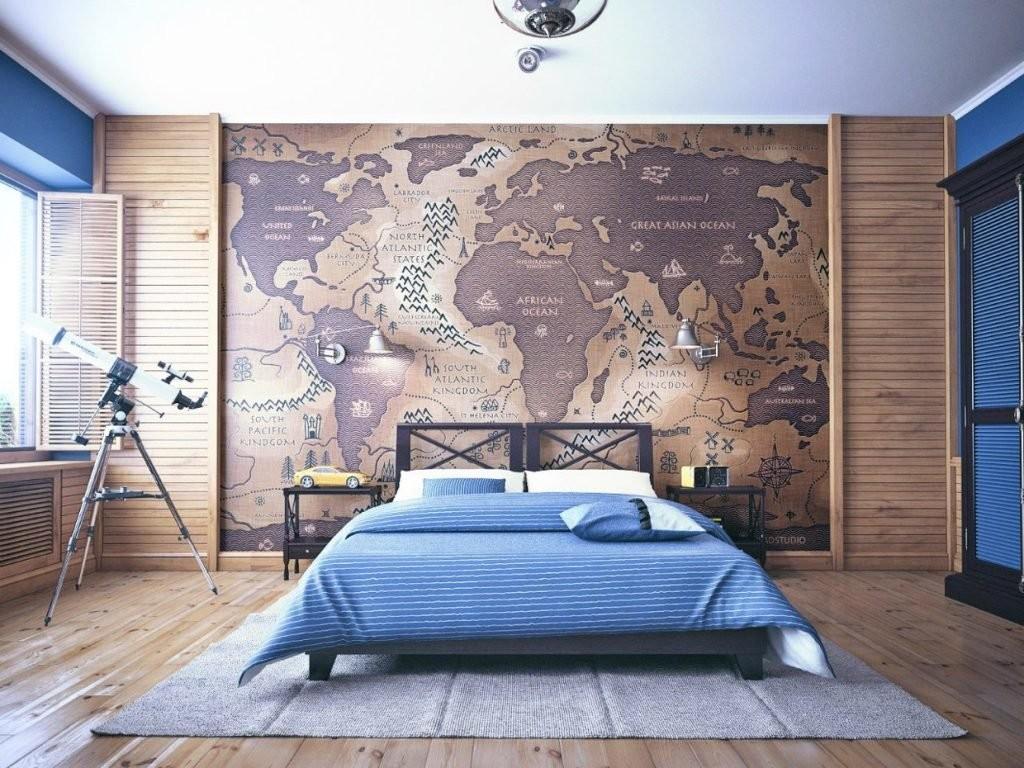 Спальня мужчины в морском стиле