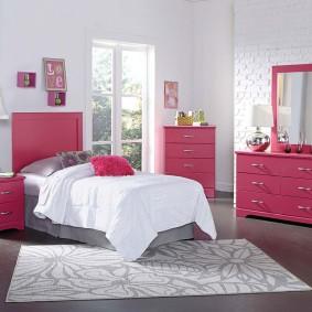 спальня в серо розовых тонах идеи дизайн