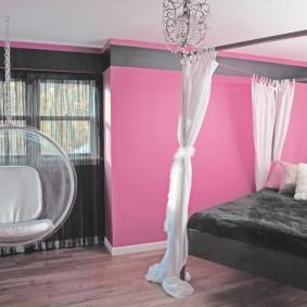 спальня в серо розовых тонах идеи дизайна