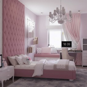 спальня в серо розовых тонах декор фото