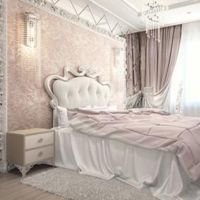 спальня в серо розовых тонах идеи декор
