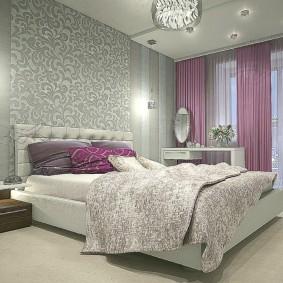 спальня в серо розовых тонах фото
