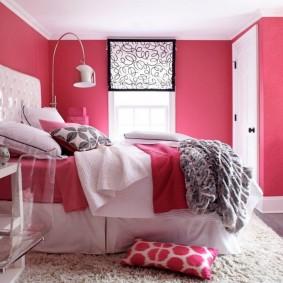 спальня в серо розовых тонах интерьер идеи