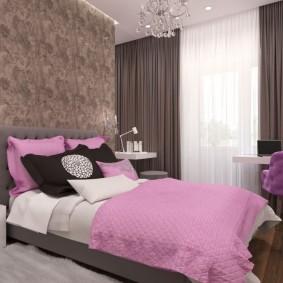 спальня в серо розовых тонах идеи интерьер
