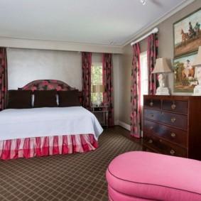 спальня в серо розовых тонах фото оформление