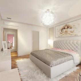 спальня в серо розовых тонах идеи