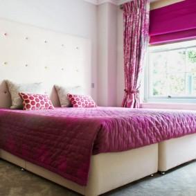 спальня в серо розовых тонах оформление идеи