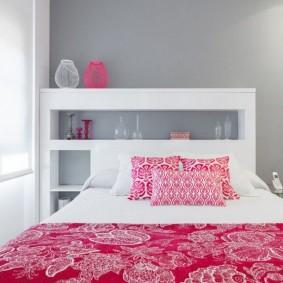 спальня в серо розовых тонах идеи оформления