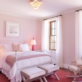 спальня в серо розовых тонах варианты фото