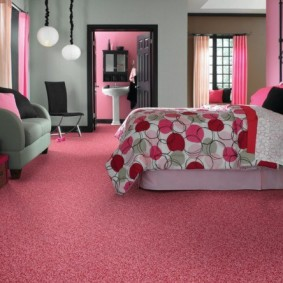 спальня в серо розовых тонах фото варианты