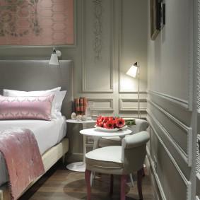 спальня в серо розовых тонах идеи фото