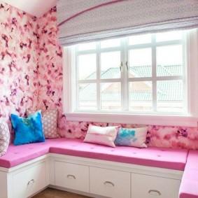 спальня в серо розовых тонах виды