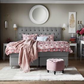 спальня в серо розовых тонах виды фото