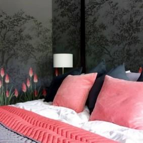 спальня в серо розовых тонах фото виды
