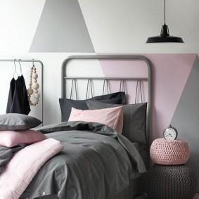спальня в серо розовых тонах виды идеи