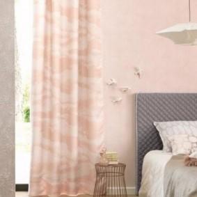 спальня в серо розовых тонах виды дизайна
