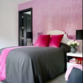 спальня в серо розовых тонах фото дизайна