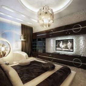 спальня в шоколадных тонах идеи дизайна