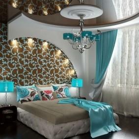 спальня в шоколадных тонах декор