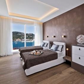 спальня в шоколадных тонах декор фото