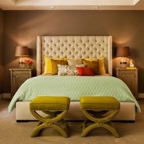 спальня в шоколадных тонах фото декор