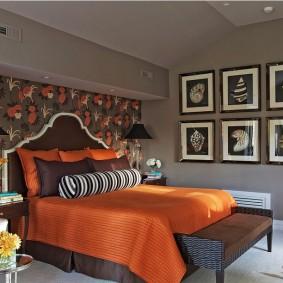 спальня в шоколадных тонах декор идеи