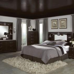 спальня в шоколадных тонах идеи декор