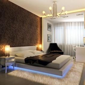 спальня в шоколадных тонах идеи декора