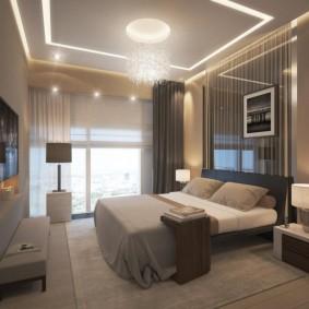спальня в шоколадных тонах интерьер фото