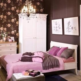 спальня в шоколадных тонах идеи интерьер