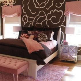 спальня в шоколадных тонах идеи интерьера