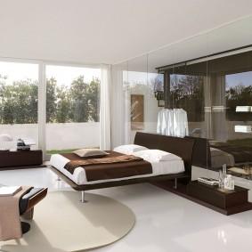 спальня в шоколадных тонах оформление фото