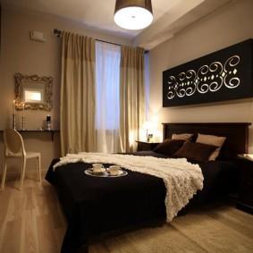 спальня в шоколадных тонах фото идеи