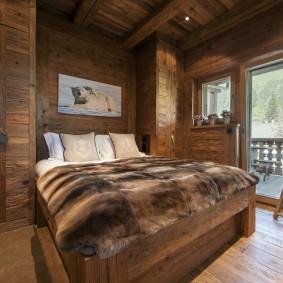 спальня в шоколадных тонах фото варианты