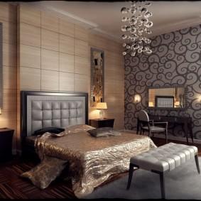 спальня в шоколадных тонах идеи вариантов