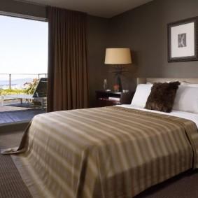 спальня в шоколадных тонах дизайн