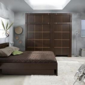 спальня в шоколадных тонах виды фото